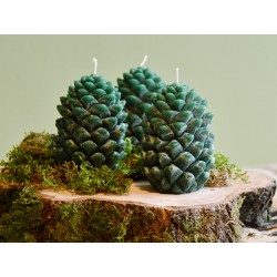 Waldgrüne Zapfenkerze groß
