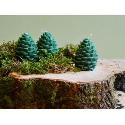 Waldgrüne Zapfenkerze klein