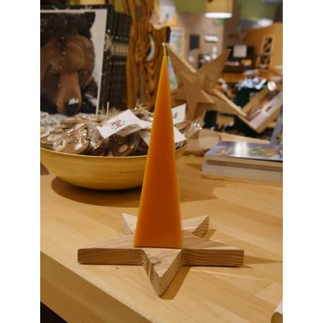 Pyramidenkerze orange