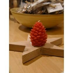Rote Zapfenkerze klein