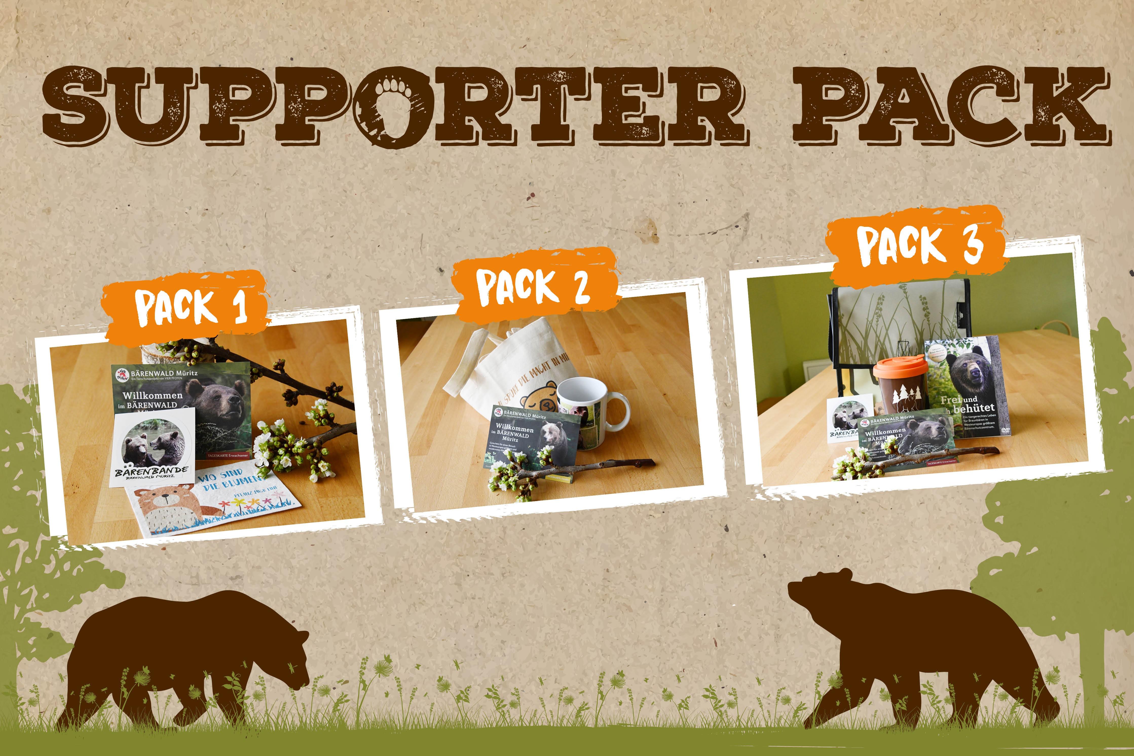 Unterstütze den BÄRENWALD Müritz mit einem Supporter Pack